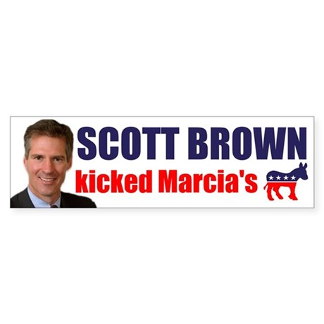 Scott Brown V Marcia Bumper Sticker