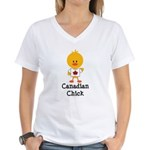 Canadian Chick Women's V-Neck T-Shirt