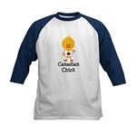 Canadian Chick Kids Baseball Jersey
