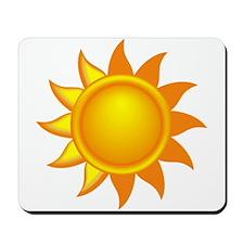 Yellow Sun Mousepad