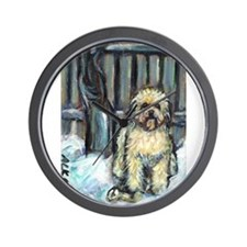 Winter Wheaten Mollie in the Wall Clock