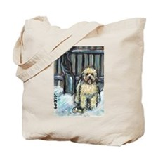 Winter Wheaten Mollie in the Tote Bag