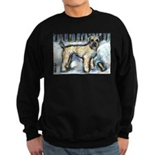 Winter Wheaten Mac in the sno Sweatshirt