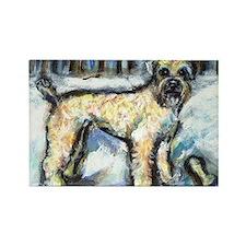 Winter Wheaten Mac in the sno Rectangle Magnet (10