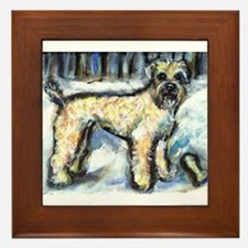 Winter Wheaten Mac in the sno Framed Tile