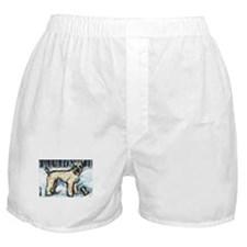 Winter Wheaten Mac in the sno Boxer Shorts