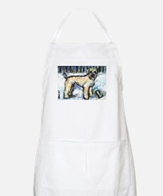 Winter Wheaten Mac in the sno Apron