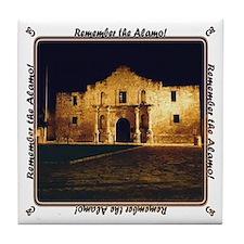 Remember alamo Tile Coaster