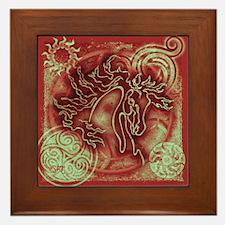 """Abundante"" Framed Christmas Tile ~ Ruby Patina"