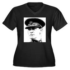 Unique Collin Women's Plus Size V-Neck Dark T-Shirt