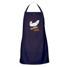 Cocky Rooster Skier Apron (dark)