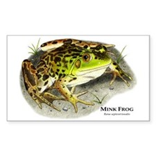Mink Frog Rectangle Decal