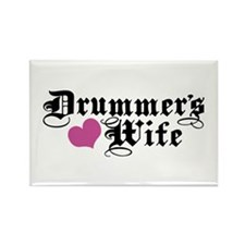 Drummer's Wife Rectangle Magnet