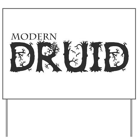 Modern Druid Yard Sign