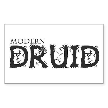 Modern Druid Rectangle Sticker