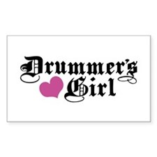 Drummer's Girl Rectangle Decal
