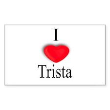 Trista Rectangle Decal