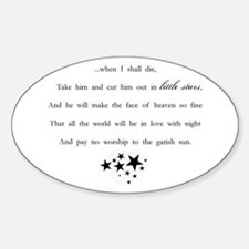 Little Stars Oval Decal