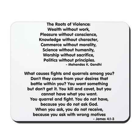 Roots of violence Mousepad