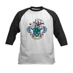 Seychelles Coat Of Arms Kids Baseball Jersey