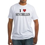 I Love Seychelles Fitted T-Shirt