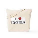 I Love Seychelles Tote Bag
