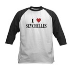I Love Seychelles Kids Baseball Jersey