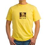 DALMATION (BE MINE)  Yellow T-Shirt