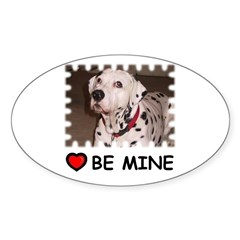 DALMATION (BE MINE) Oval Decal