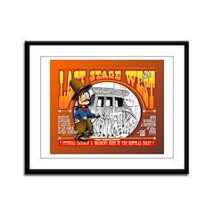 """LAST STAGE WEST"" by Joe King Framed Pan"