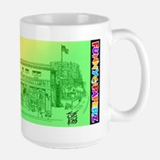 """A BICYCLE BUILT FOR TWO"" by Large Mug"