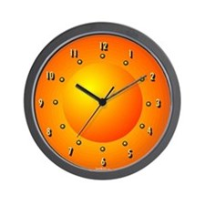 Orange Dome Light Curious Wall Clock