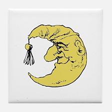 Yellow Moon Tile Coaster