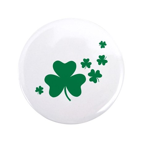 "Shamrocks 3.5"" Button (100 pack)"