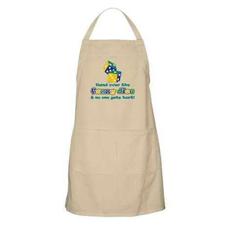 Hand over the fuzzy dice Apron