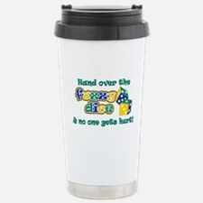 Hand over the fuzzy dice Travel Mug