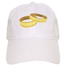 Mommy & Daddy rings Baseball Cap