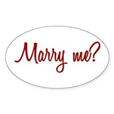 Marry Me? Oval Decal