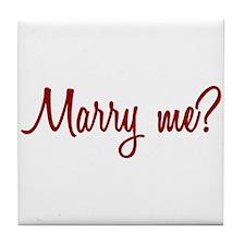 Marry Me? Tile Coaster
