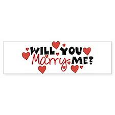 Will You Marry Me? Bumper Bumper Sticker