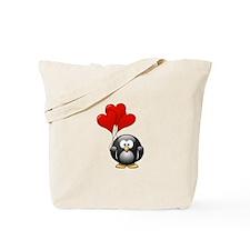 Valentine Penquin Tote Bag