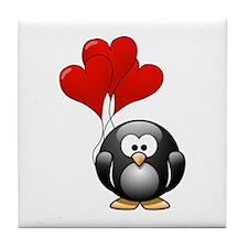 Valentine Penquin Tile Coaster