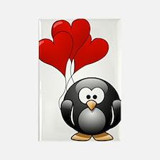 Valentine Penquin Rectangle Magnet