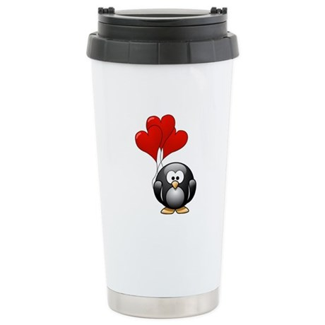 Valentine Penquin Stainless Steel Travel Mug