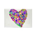 Hearts Rectangle Magnet (100 pack)