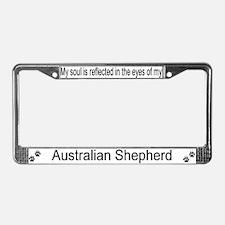 """""""Australian Shepherd"""" License Plate Frame"""