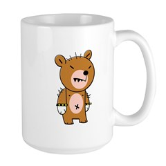 Punk Teddy Bear Punkster Large Mug