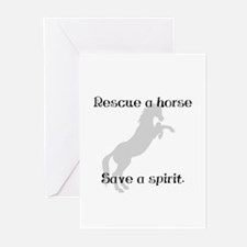 Rescue Grey Greeting Cards (Pk of 10)