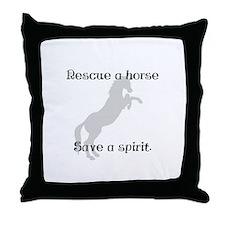 Rescue Grey Throw Pillow