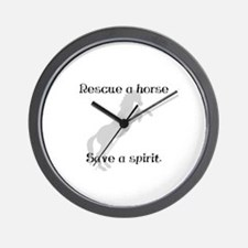 Rescue Grey Wall Clock